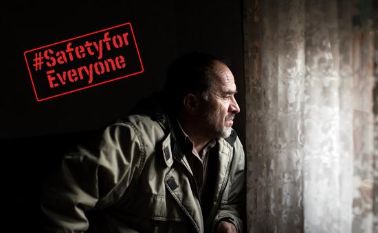 Man in asylum accommodation